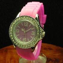 Tom Watch Crystal Raspberry Pink 40mm Unisex Silikon Armbanduh...