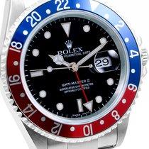 Rolex Mens SS 16710 GMT-Master ll Pepsi