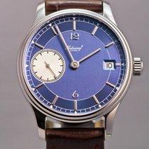 Habring² Kleine Habring Date blue dial Rhodium appliques