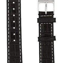 Hamilton Ardmore Lederband schwarz 18/16mm H600.114.107