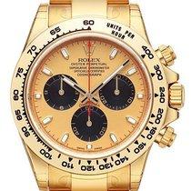 Rolex Cosmograph Daytona 18 kt Gelbgold 116508 Champagner Schwarz