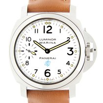パネライ (Panerai) New  Luminor Stainless Steel White Manual Wind...