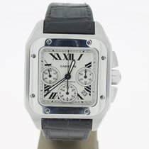 Cartier Santos 100 XL Chronograph Steel (B&P2008) 41mm ...