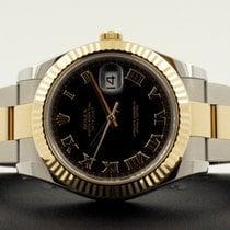 Rolex Oyster Datejust II Gold Steel Black Roman Dial 41 mm (2017)