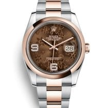 Rolex Datejust Roségold Choco Diamond NOS with latest Mondani...