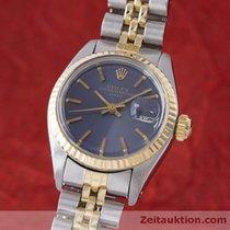 Rolex Lady Oyster Date Gold / Stahl Damenuhr Automatik 6917