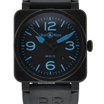 Bell & Ross Instrument Black Carbon Blue Accents On Dial...