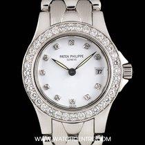 Patek Philippe 18k White Gold White Dial Neptune Ladies...