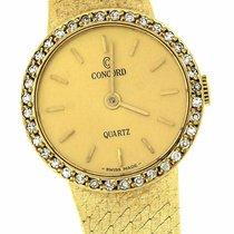 Concord 14K Yellow Gold 0.36ctw Diamond Swiss Quartz 19mm Watch