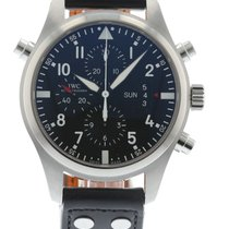IWC Pilot's Double Chronograph IW3778-01 Watch with Leather...