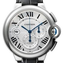 Cartier Ballon Bleu / Chronograph / Leather Strap / Stainless...