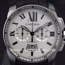 Cartier Calibre Chronograph auto Steel/Aligator full set LNIB