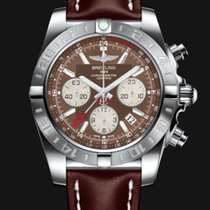 Breitling Chronomat GMT Brown Dial Brown Leather Bracelet 44mm T