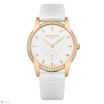 Patek Philippe Calatrava White Dial Rose Gold 33mm Ladies Watch