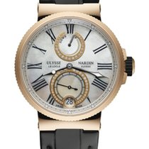 Ulysse Nardin MARINE CHRONOMETER LADY Pink Gold Leather Black...