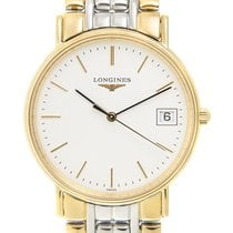 Longines Presence Gold-plated Stainless Steel White Quartz...