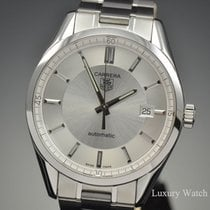 TAG Heuer Carrera Calibre 5 Stainless Steel Silver Dial Watch...