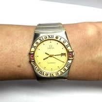 Omega Constellation 18k Gold & Steel Men's Watch W/...