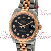 Rolex Datejust 31mm, Black Diamond Dial, Fluted Bezel -...