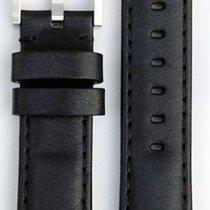 Everest Lederband schwarz 20mm  EH8BLK
