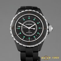 Chanel J12 Black Ceramic Emerald Dial H2131 Automatic BOX...