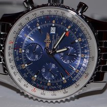 Breitling Navitimer World GMT Chronograph Stainless Steel...