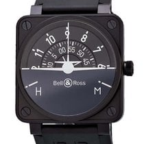 Bell & Ross Aviation BR01 Turn Coordinator Black PVD...
