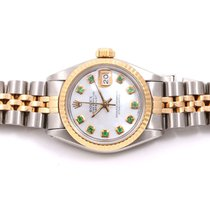 Rolex Ladies 18K/SS Datejust -Mother Of Pearl Dial with...