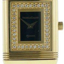 Jaeger-LeCoultre Ladies  Reverso Diamond Paved Dial 18k Yellow...