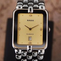 Rado Florence Swiss Made Mens Stainless Steel Quartz c 1990...