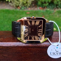 Cartier Santos Dumont XL - 18ct Rose Gold - Chocolate Dial -...