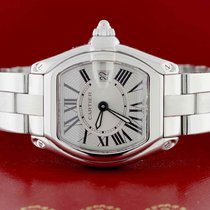 Cartier Roadster Small Silver Sunray Roman Dial 30mm Watch...
