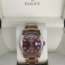 Rolex 118205 day date Choco diamond and Ruby dial