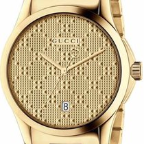 Gucci G-Timeless Medium Quartz PVD Yellow Gold Case R