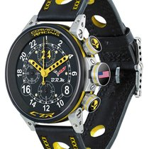 Genuine Brm Watch Corvette Auto Chrono Ltd. Edn. 24 Pcs Black...