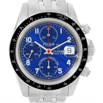 Tudor Tiger Prince Date Chronograph Blue Dial Steel Watch 79260