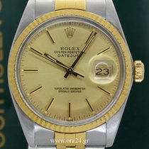 Ρολεξ (Rolex) Datejust 16013 Gold Dial 36mm 18K Gold Steel MINT