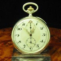 Longines Open Face Lepine Taschenuhr Chronograph 900 Silber