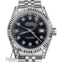 Rolex 26mm Oyster Perpetual Datejust Jubilee Bracelet Black...
