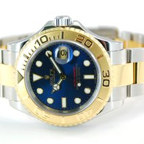 Rolex Yacht Master Two Tone 18kt Yellow Gold/SS Blue Dial-16623