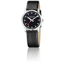 Mondaine Montre Simply Elegant All Black Brushed 36 mm