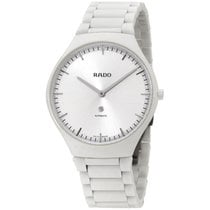 Rado True Thinline White Dial Automatic Cermaic Unisex Watch...