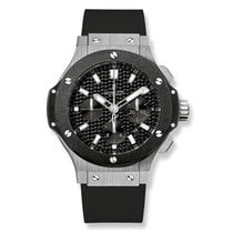 Hublot Big Bang Chronograph Automatic Black Dial Black Rubber