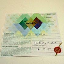 Rolex Warranty Certificate Ref: 116523