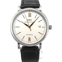 IWC Portofino Automatic White Steel/Leather 40mm - IW356517