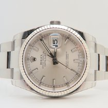 Rolex Oyster Perpetual Datejust 36mm White Gold Bezel Ref. 116234