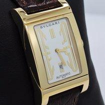 Bulgari Rettangolo 18k Yellow Gold On Leather Automatic Watch...