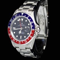 Rolex RARE GMT-Master II Pepsi Stick 3186 M-Series Full Set NOS