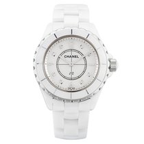 Chanel J12 White Ceramic&Steel, Diamond Indicators
