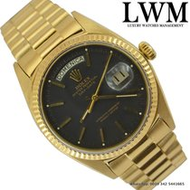 Rolex Day-Date 1803 President yellow gold 18 KT matt black dial